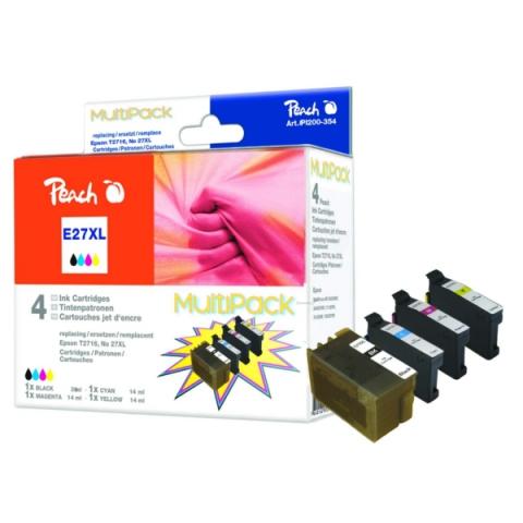 Peach Druckerpatrone ersetzt Epson T2701XLBK und