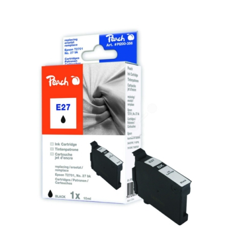 Peach Druckerpatrone, ersetzt Epson T2701BK für