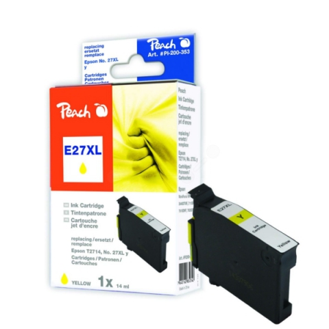 Peach Druckerpatrone ersetzt Epson T2701XLY für