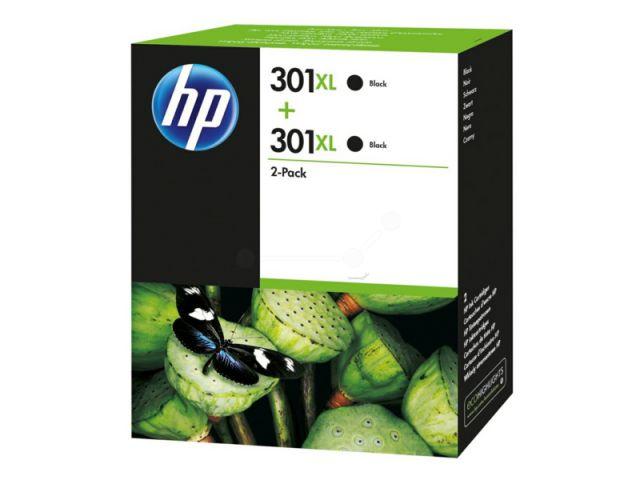 D8J45AE Doppelpack Druckerpatronen mit Druckkopf HP NO 301XL, mit 2 x 8 ml passend für Deskjet