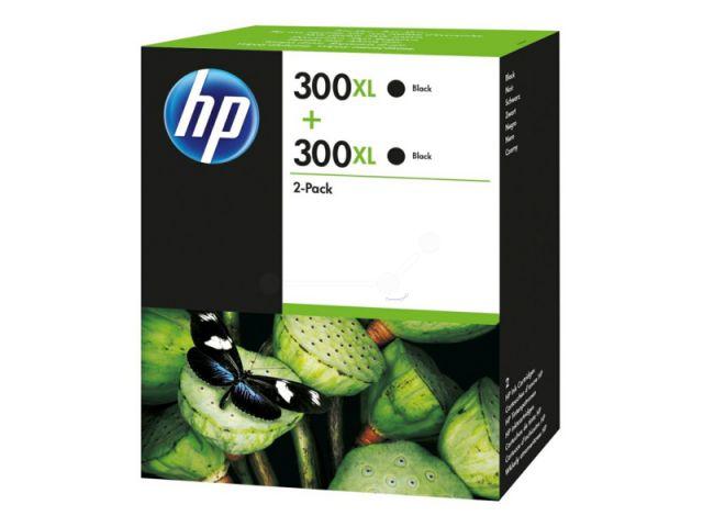 D8J43AE Doppelpack Druckerpatronen mit Druckkopf HP NO 300XL, mit 2 x 12 ml, passend für Deskjet