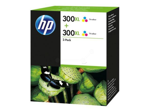 D8J44AE Doppelpack Druckerpatronen mit Druckkopf HP NO 300XL, mit 2 x 12 ml, passend für Deskjet