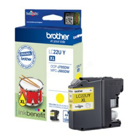 Brother LC22UY original Druckerpatrone passend