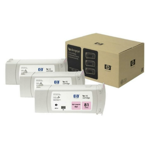 HP C5071A Tintenpatrone 3 x 680 ml HP , NO 81