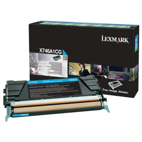 Lexmark X746A1CG Toner, original aus dem
