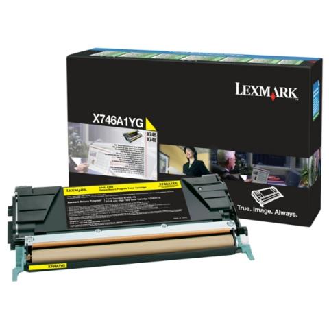 Lexmark X746A1YG Toner, original aus dem
