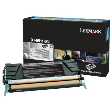 Lexmark X746H1KG Toner, original aus dem