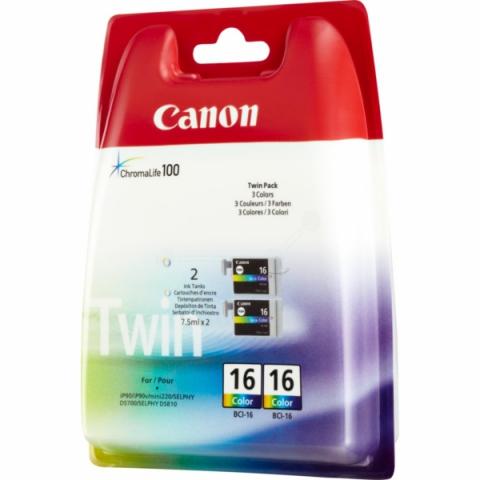 Canon BCI-16C original Tintenpatrone mit 2x 2,