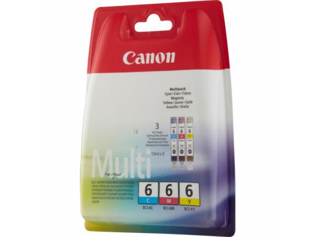 Multipack / Multipack mit 3 Tintenpatronen von Canon mit 13ml Inhalt je Farbe, color