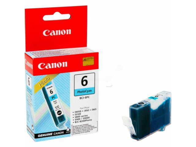 BCI-6PC original Foto Druckerpatrone von Canon für optimale Druckergebnisse, photo cyan