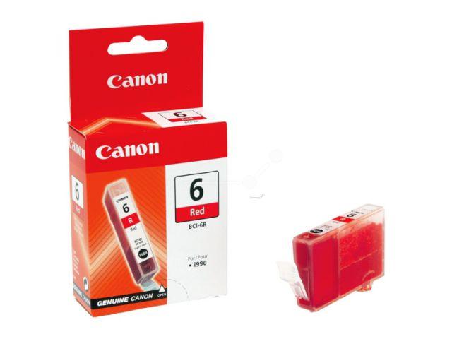 BCI-6R original Foto Druckerpatrone von Canon für optimale Druckergebnisse, red