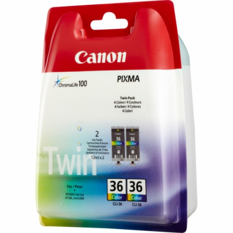 Canon Tintenpatrone color Doppelpack,