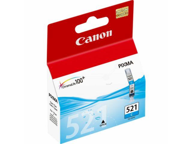 CLI-521C Druckerpatrone mit 9 ml ChromaLife100+ Druckertinte, Originalprodukt von Canon, cyan