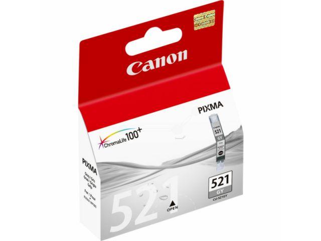 CLI-521GY Druckerpatrone mit 9 ml ChromaLife100+ Druckertinte, Originalprodukt von Canon grau