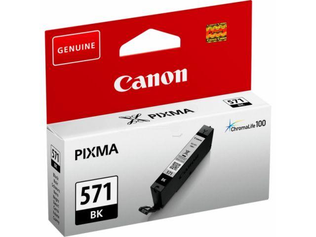 CLI-571BK passend für Canon MG5750, MG6850 und MG7750, Tintenpatrone mit 7 ml Inhalt, schwarz