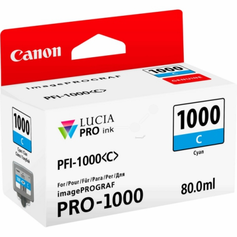 Canon Tintenpatrone PFI1000C, 80 ml, passend für