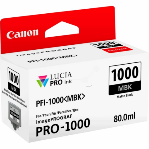 Canon Tintenpatrone PFI1000MBK, 80 ml, passend