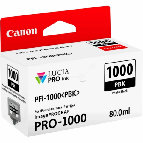 Canon Tintenpatrone PFI1000PBK, 80 ml, passend