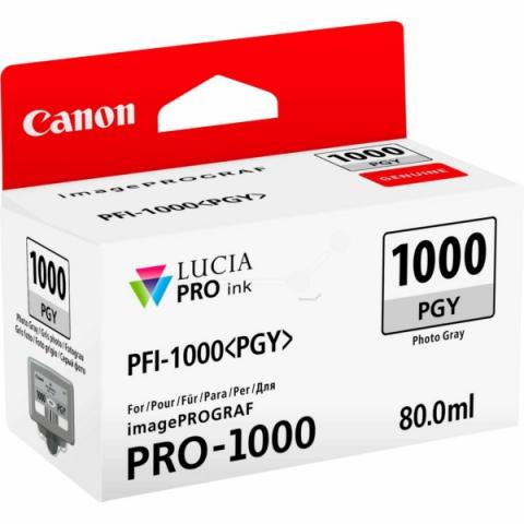 Canon Tintenpatrone PFI1000PGY, 80 ml, passend