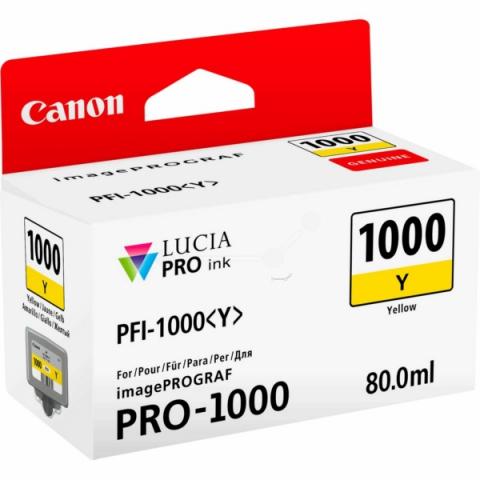 Canon Tintenpatrone PFI1000Y, 80 ml, passend für