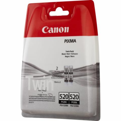 Canon Doppelpack Tintenpatrone PGI-520BK, mit 2