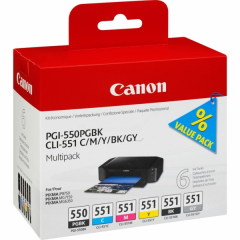 Canon CLI-551 Multipack Druckerpatronen von