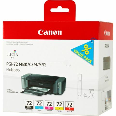 Canon PGI-72 Multipack Druckerpatronen mit 5 x