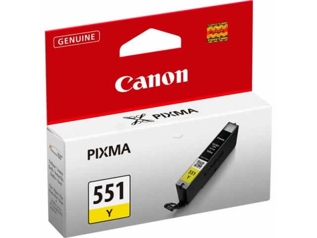 CLI-551Y Tintenpatrone mit 7 ml Inhalt, original Druckerpatrone Farbe: gelb, gelb