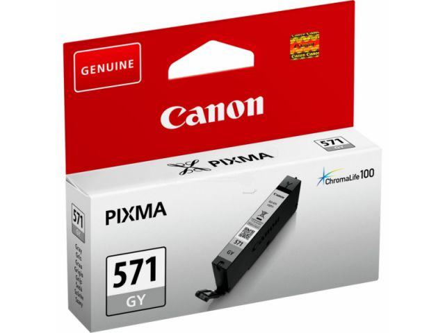 CLI-571GY passend für Canon MG5750, MG6850 und MG7750, Tintenpatrone mit 7 ml Inhalt,