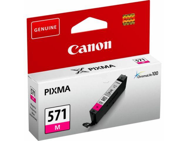 CLI-571M passend für Canon MG5750, MG6850 und MG7750, Tintenpatrone mit 7 ml Inhalt,