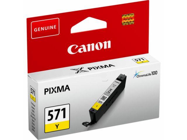 CLI-571Y passend für Canon MG5750, MG6850 und MG7750, Tintenpatrone mit 7 ml Inhalt,