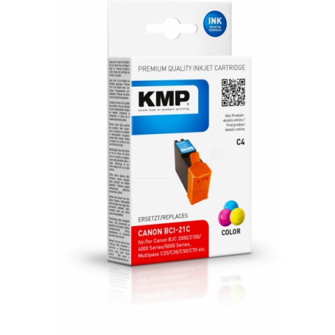 KMP Druckerpatrone ersetzt Canon BCI-21C mit