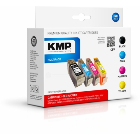 KMP Multipack Druckerpatronen mit 1x31ml und 3x
