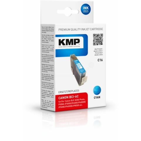 KMP Druckerpatrone ersetzt Canon BCI-6C mit 17