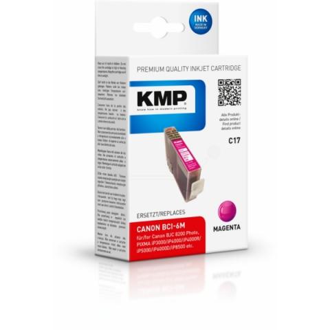 KMP Druckerpatrone ersetzt Canon BCI-6M mit 17