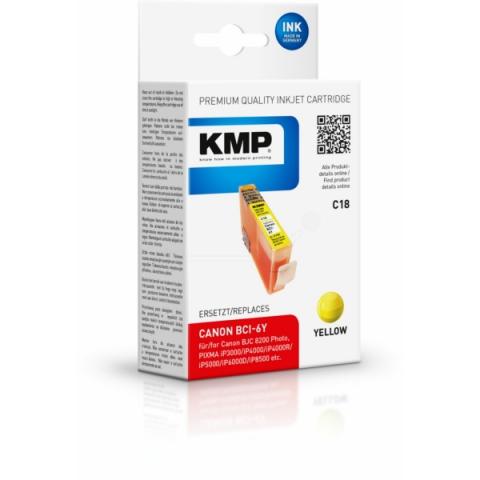 KMP Druckerpatrone ersetzt Canon BCI-6Y mit 17