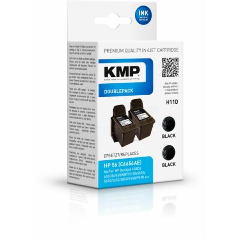 KMP Doppelpack kompatible Druckerpatrone mit