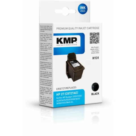 KMP Druckerpatrone, recycelt, ersetzt HP 27 ,