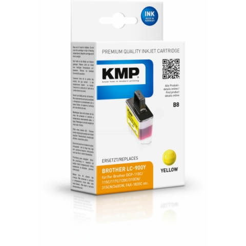 KMP Druckerpatrone ersetzt Brother LC-900Y, mit