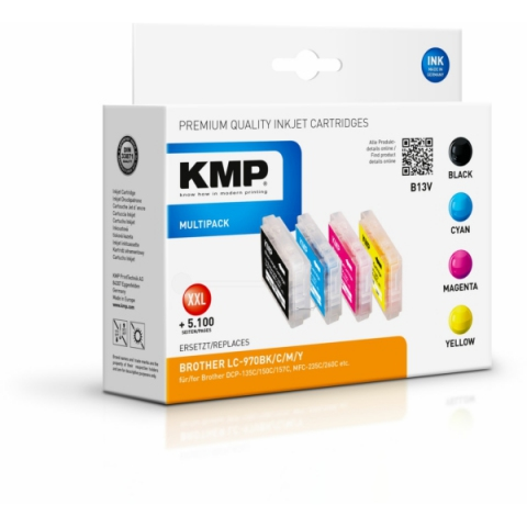 KMP Multipack ersetzt Brother LC-970VAL mit