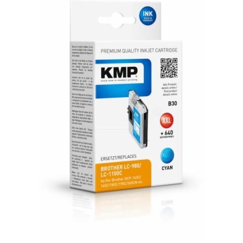 KMP Druckerpatrone ersetzt Brother LC980C ,