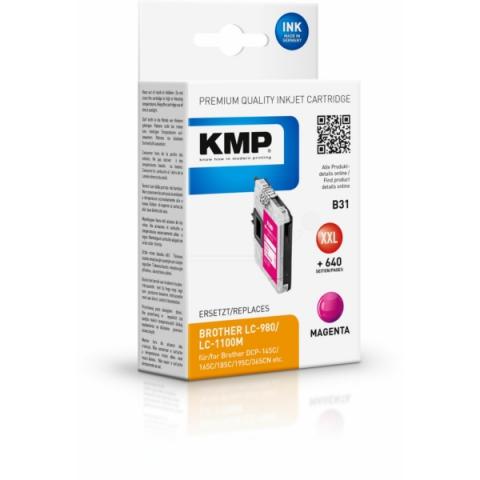 KMP Druckerpatrone ersetzt Brother LC980M ,