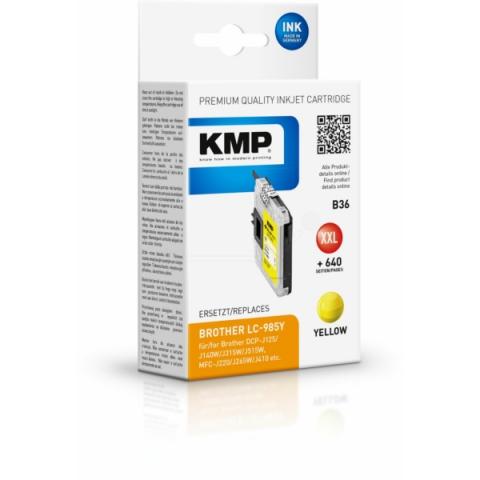 KMP Druckerpatrone ersetzt Brother LC-985 Y mit