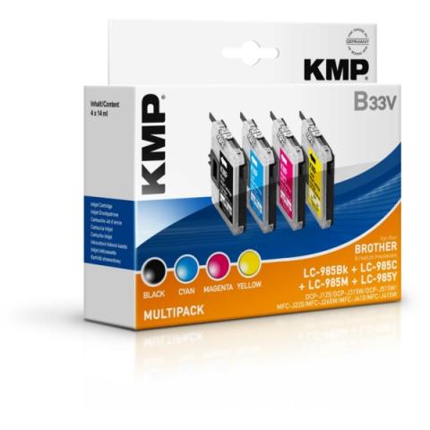 KMP Tintenpatronen ersetzen Brother LC-985 VALBP