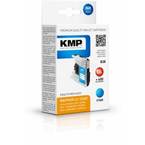 KMP Druckerpatrone ersetzt LC-1240C für Brother