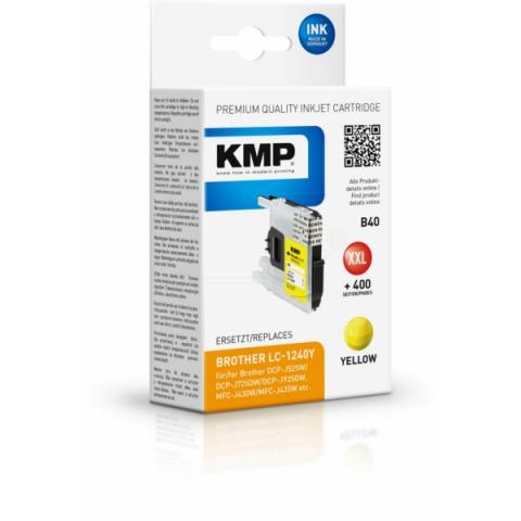 KMP Druckerpatrone ersetzt LC-1240Y für Brother