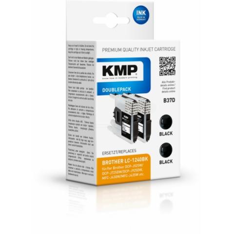 KMP Doppelpack ersetzt LC-1240BK 2 x 14ml mit 2