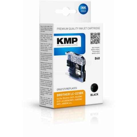 KMP Druckerpatrone ersetzt Brother LC-223 BK,