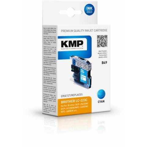 KMP Druckerpatrone ersetzt Brother LC-223 C, mit