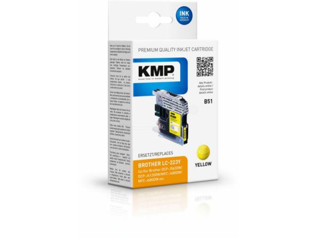 Tintenpatrone ersetzt die Originalpatrone LC223Y für viele Brother DCP und MFC Drucker,